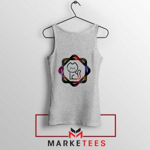 Galacta Kitty Sport Grey Tank Top
