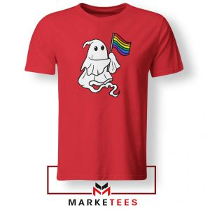 Ghost Rainbow Flag Red Tshirt