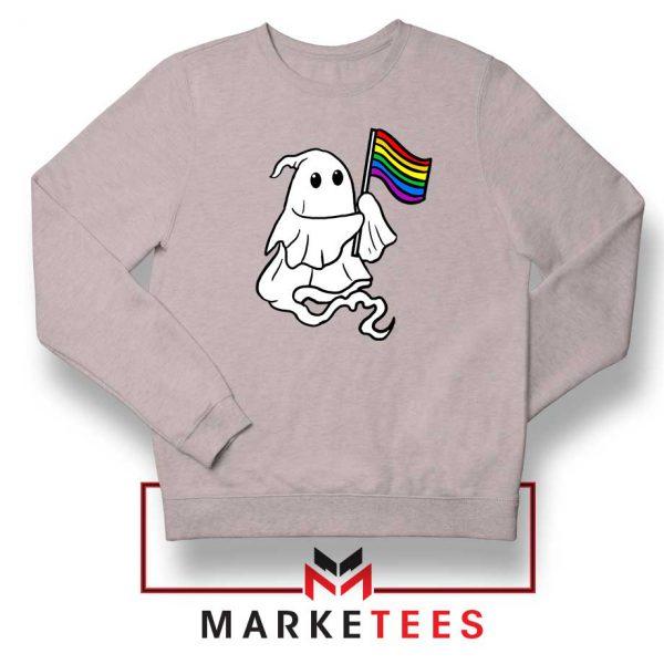Ghost Rainbow Flag Sport Grey Sweatshirt