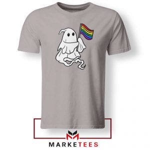 Ghost Rainbow Flag Sport Grey Tshirt