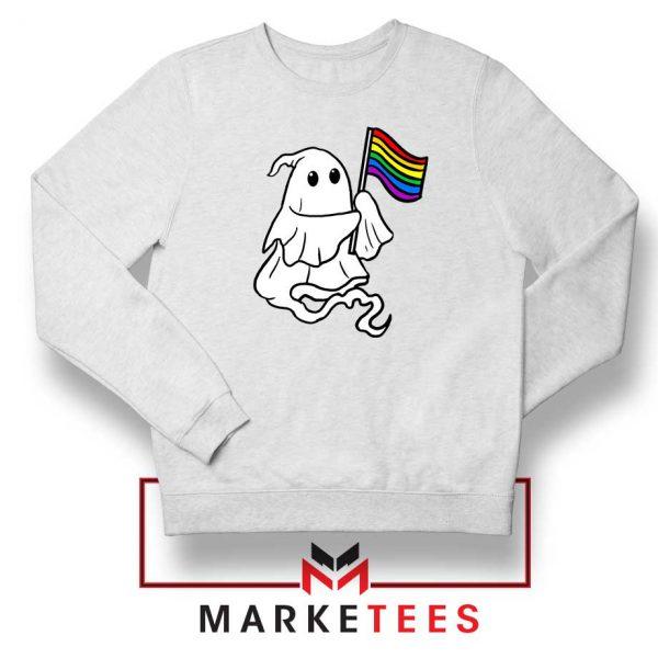 Ghost Rainbow Flag Sweatshirt