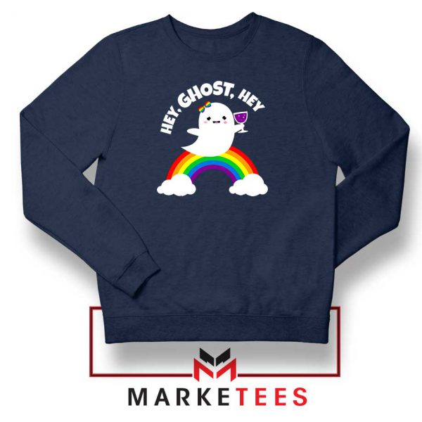 Hey Ghost Hey Navy Blue Sweatshirt
