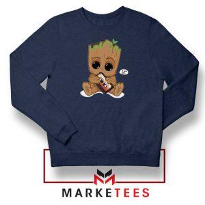I Am Groot Navy Blue Sweatshirt