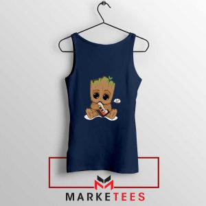 I Am Groot Navy Blue Tank Top