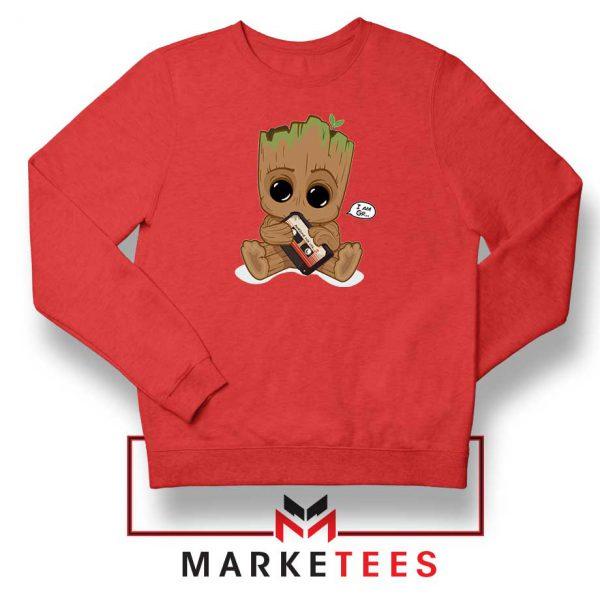 I Am Groot Red Sweatshirt