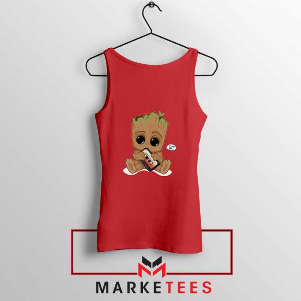 I Am Groot Red Tank Top
