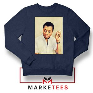 James Arthur Baldwin Navy Blue Sweatshirt