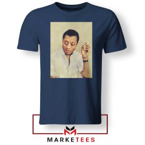 James Arthur Baldwin Navy Blue Tshirt