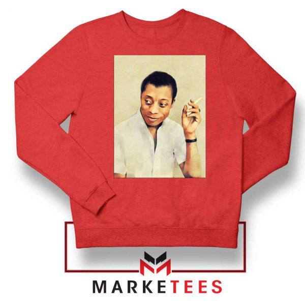 James Arthur Baldwin Red Sweatshirt
