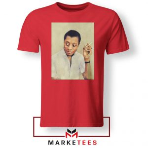 James Arthur Baldwin Red Tshirt