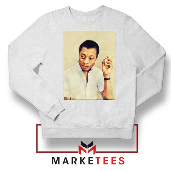 James Arthur Baldwin White Sweatshirt