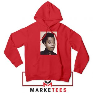 James Baldwin Potrait Red Hoodie