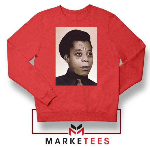 James Baldwin Potrait Red Sweatshirt