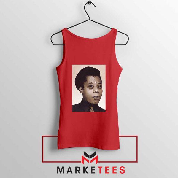 James Baldwin Potrait Red Tank Top