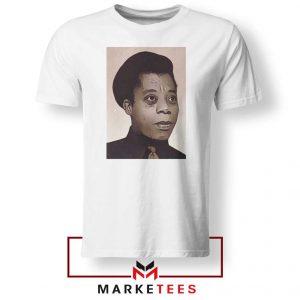 James Baldwin Potrait White Tshirt