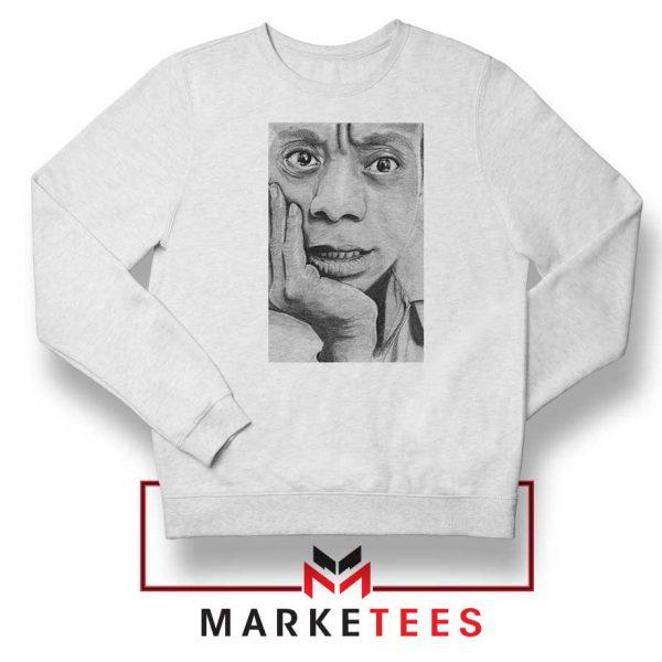 James Baldwin White Sweatshirt