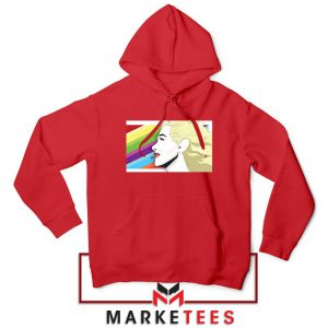 Marilyn Monrainbow Red Hoodie