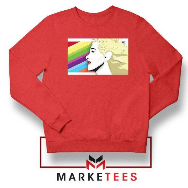 Marilyn Monrainbow Red Sweatshirt