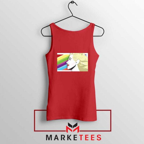 Marilyn Monrainbow Red Tank Top