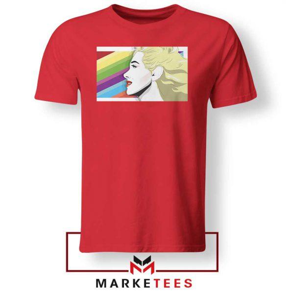 Marilyn Monrainbow Red Tshirt