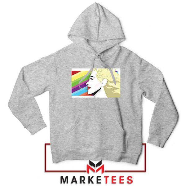 Marilyn Monrainbow Sport Grey Hoodie