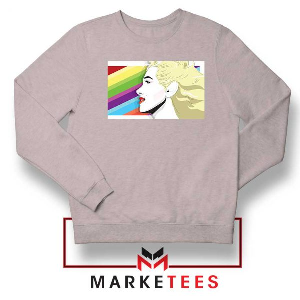 Marilyn Monrainbow Sport Grey Sweatshirt