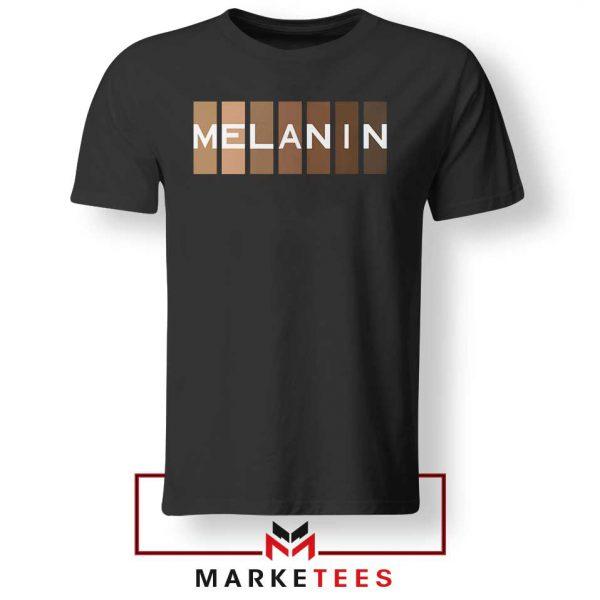 Melanin Feminist Black Tshirt