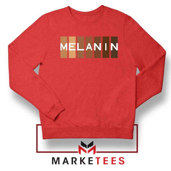 Melanin Feminist Red Sweatshirt
