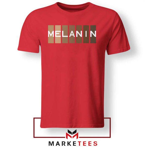 Melanin Feminist Red Tshirt