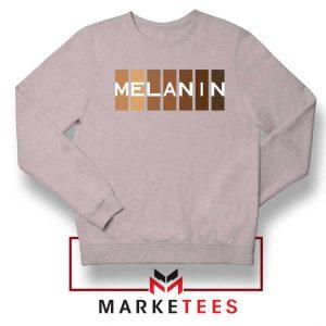 Melanin Feminist Sport Grey Sweatshirt