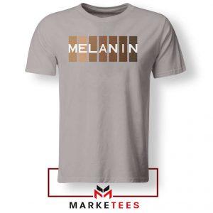 Melanin Feminist Sport Grey Tshirt