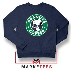 Peanuts Coffee Navy Blue Sweatshirt