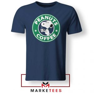 Peanuts Coffee Navy Blue Tshirt