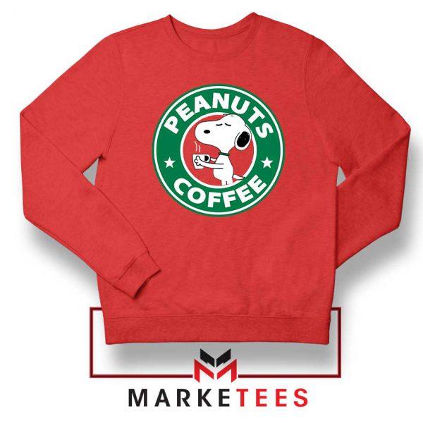 Peanuts Coffee Red Sweatshirt