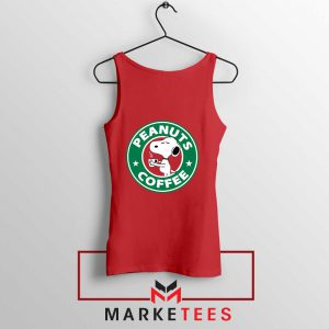 Peanuts Coffee Red Tank Top