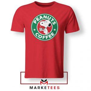 Peanuts Coffee Red Tshirt