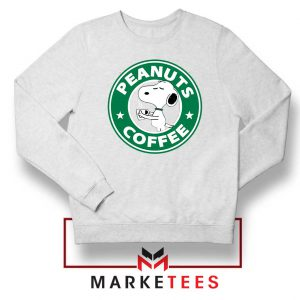 Peanuts Coffee White Sweatshirt