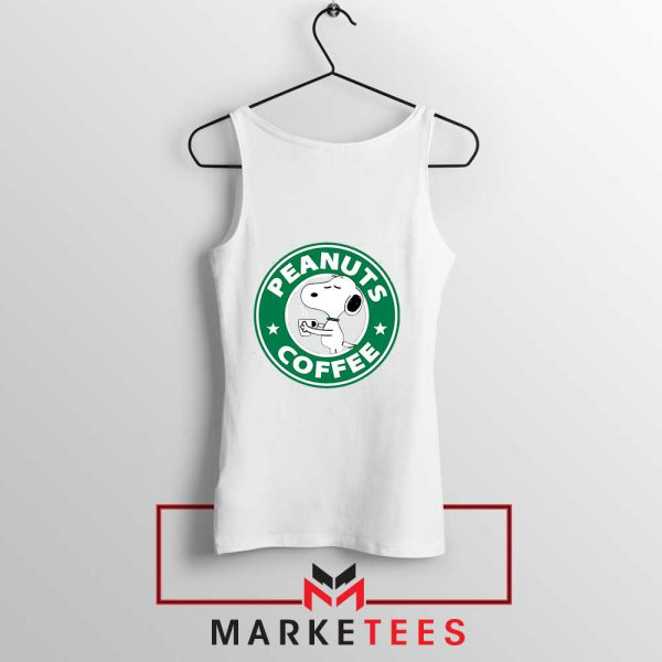 Peanuts Coffee White Tank Top