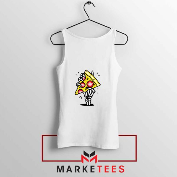 Pizza Skull Hand Tank Top