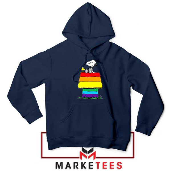 Pride Snoopy Navy Blue Hoodie