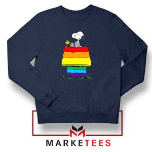 Pride Snoopy Navy Blue Sweatshirt