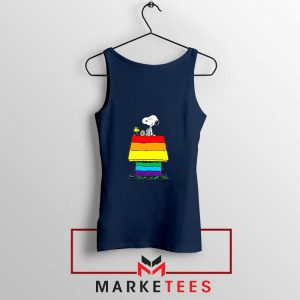 Pride Snoopy Navy Blue Tank Top