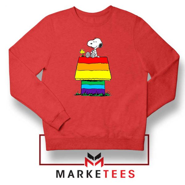 Pride Snoopy Red Sweatshirt