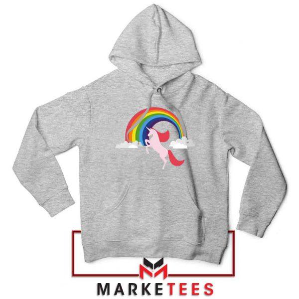 Rainbow Unicorn Sport Grey Hoodie