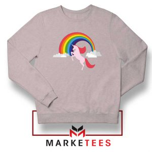 Rainbow Unicorn Sport Grey Sweatshirt
