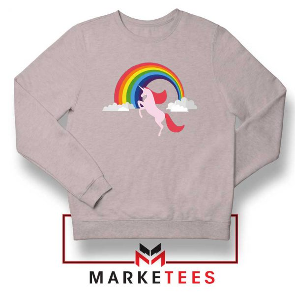 Rainbow Unicorn Sport Grey Sweatshirt
