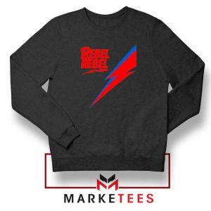 Rebel Rebel David Bowie Black Sweatshirt