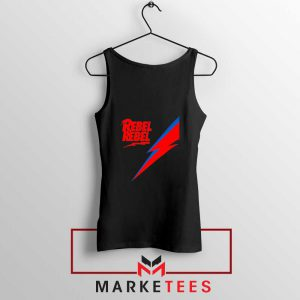 Rebel Rebel David Bowie Black Tank Top