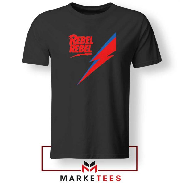 Rebel Rebel David Bowie Black Tshirt