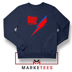 Rebel Rebel David Bowie Navy Blue Sweatshirt